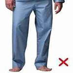 Wearing of trousers by the Muhrim